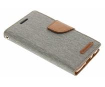 Mercury Goospery Canvas Diary Case für Samsung Galaxy A3 - Grau