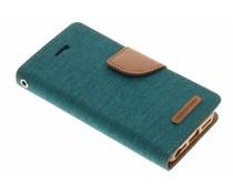 Mercury Goospery Canvas Diary Case für iPhone 5/5s/SE - Grün