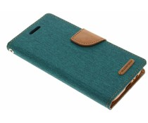 Mercury Goospery Grünes Canvas Diary Case für Samsung Galaxy A5 (2017)