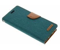 Mercury Goospery Grünes Canvas Diary Case für Samsung Galaxy S8