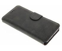 Wildleder-Look Booktype Hülle Schwarz für Huawei P10
