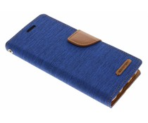 Mercury Goospery Blaues Canvas Diary Case Samsung Galaxy S8