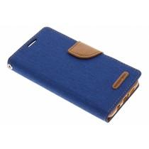 Mercury Goospery Blaues Canvas Diary Case Samsung Galaxy A3 (2016)