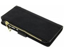 Schwarze luxuriöse Portemonnaie-Hülle für Huawei P9 Lite