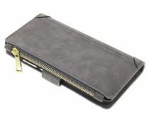 Graue luxuriöse Portemonnaie-Hülle für das Huawei P10