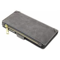 Graue luxuriöse Portemonnaie-Hülle für das Huawei P10 Lite