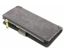 Graue luxuriöse Portemonnaie-Hülle für das Samsung Galaxy S8 Plus