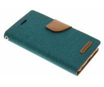 Mercury Goospery Canvas Diary Case für iPhone 6/6s - Grün