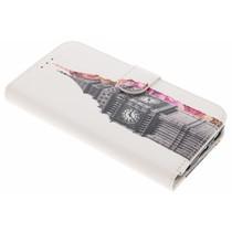 Design TPU Booktype Hülle für Samsung Galaxy S6