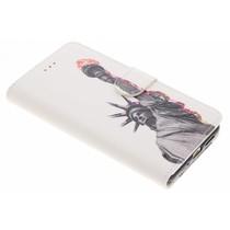 Design TPU Booktype Hülle für Huawei P10 Lite