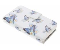 Schmetterling Design TPU Portemonnaie für Samsung Galaxy S7
