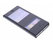 Luxus Slim Booktype Hülle mit Sichtfenster Huawei P8 Lite