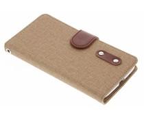 Leinen TPU Booktype Handyhülle für das Motorola Moto G4 Play