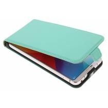 Selencia Mintgrünes Luxus Flipcase für LG G6