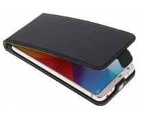 Selencia Schwarzes Luxus Flipcase für LG G6