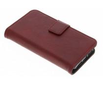 Luxus Leder Booktype Hülle Rot für iPhone 5 / 5s / SE