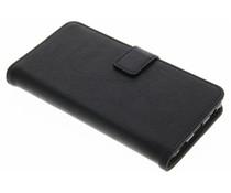 Schwarze Luxus Leder Booktype Hülle für Huawei P8