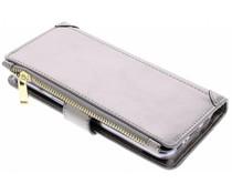 Luxuriöse Portemonnaie-Hülle Grau für das Samsung Galaxy S8