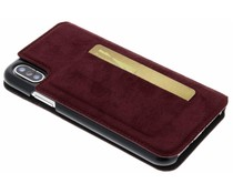 Bugatti Rotes Parigi Ultrasuede Booklet iPhone Xs / X