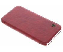 Nillkin Qin Leather Slim Booktype Hülle Rot für das iPhone Xs / X