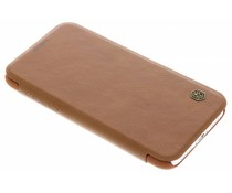 Nillkin Qin Leather Slim Booktype Hülle Braun für das iPhone Xs / X