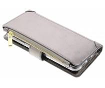 Graue Luxuriöse Portemonnaie-Hülle für General Mobile GM6