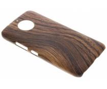 Holz-Design Hardcase-Hülle Dunkelbraun für das Motorola Moto G5S Plus