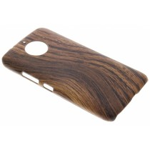 Holz-Design Hardcase-Hülle Dunkelbraun Moto G5S Plus