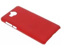 Rote unifarbene Hardcase-Hülle für Huawei Y6 (2017)