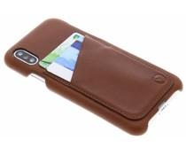 Valenta Braunes Back Cover Premium iPhone Xs / X