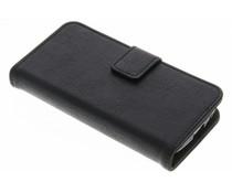 Luxus Leder Booktype Hülle Schwarz für Samsung Galaxy S4 Mini