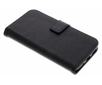 Schwarze Luxus Leder Booktype Hülle Motorola Moto G5S Plus