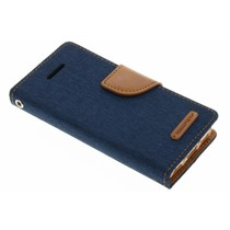 Mercury Goospery Blaues Canvas Diary Case iPhone 5c