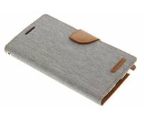 Mercury Goospery Graues Canvas Diary Case Samsung Galaxy Note 2