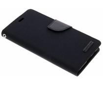Mercury Goospery Schwarzes Canvas Diary Case Samsung Galaxy A8 (2018)