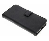 Schwarze Luxus Leder Booktype Hülle für Motorola Moto G5 Plus