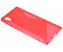 Rotes S-Line TPU Hülle für Sony Xperia XA1