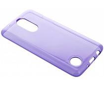 Violettes transparentes Gel Case für LG K8 (2017)