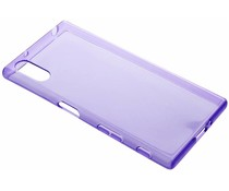 Violettes transparentes Gel Case für Sony Xperia XZ / XZs