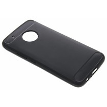 Schwarzer Brushed TPU Case Motorola Moto G5 Plus