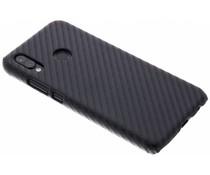 Carbon Look Hardcase-Hülle Schwarz für Huawei P20 Lite