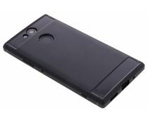 Schwarzer Brushed TPU Case Sony Xperia XA2