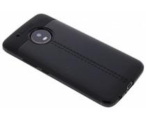 Leder Silikon-Case für Motorola Moto G5 Plus