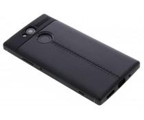 Leder Silikon-Case für Sony Xperia XA2