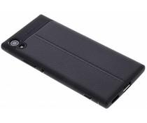 Leder Silikon-Case für Sony Xperia XA1