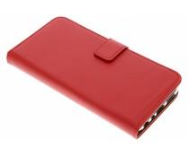 Selencia Roter Luxus TPU Book Case für das Huawei P Smart