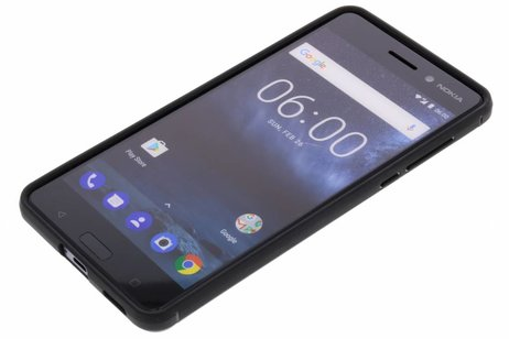 Nokia 6 hülle - Schwarzer Brushed TPU Case