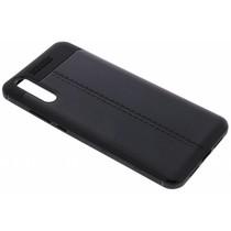 Schwarzes Leder Silikon-Case für das Huawei P20
