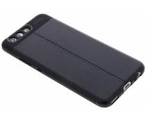 Schwarzes Leder Silikon-Case für das Huawei P10