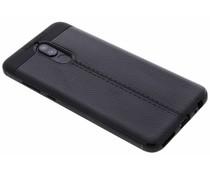 Schwarzes Leder Silikon-Case für das Huawei Mate 10 Lite